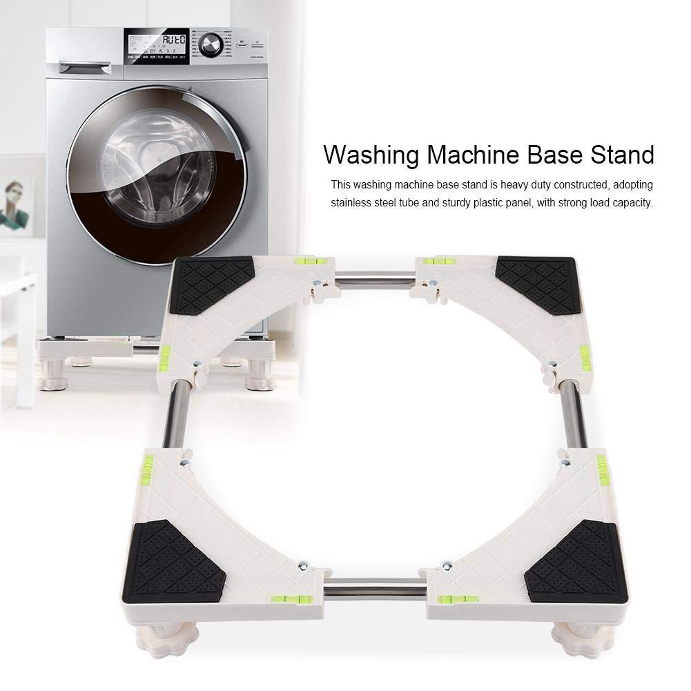 Base Ajustable m/óvil Multifuncional con 4 Patas Fuertes para Lavadora 4 Acogedor Pedestal de Lavadora Secadora y Nevera