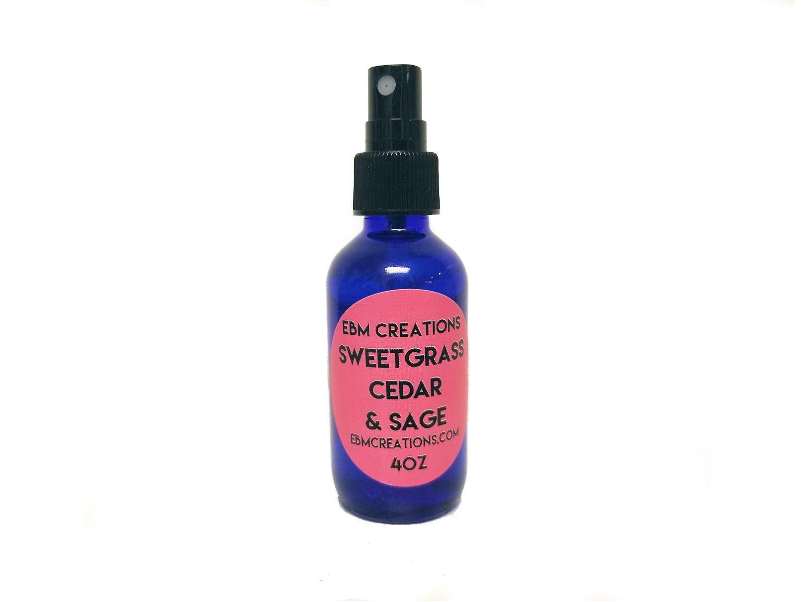 Sweetgrass Cedar & Sage Smudge Spray - 4 oz Bottle