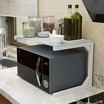 ACZZ Rack de horno de microondas, Rack de almacenamiento de la ...