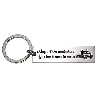 Amazon.com: Llavero para camionero con el texto en inglés ...