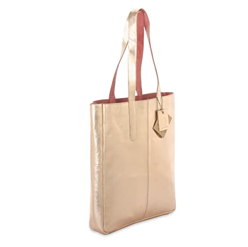 c0a62ce490 Metallic Rimor Sofia reversible leather tote bag LB32 rose gold  Amazon.ca   Shoes   Handbags