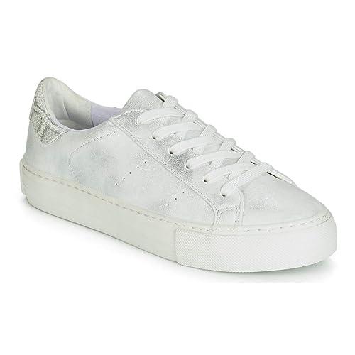 NO Name Arcade Zapatillas Moda Mujeres Blanco/Plateado - 38 - Zapatillas Bajas: Amazon.es: Zapatos y complementos