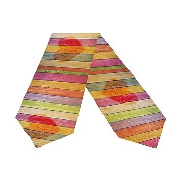 Amazon.com: Camino de mesa de madera de doble cara con ...