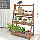 Solid wood flower shelf multi-storey flower rack indoor and outdoor flower racks-C