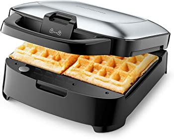 Elechomes Belgian Waffler Maker with Removable Plates