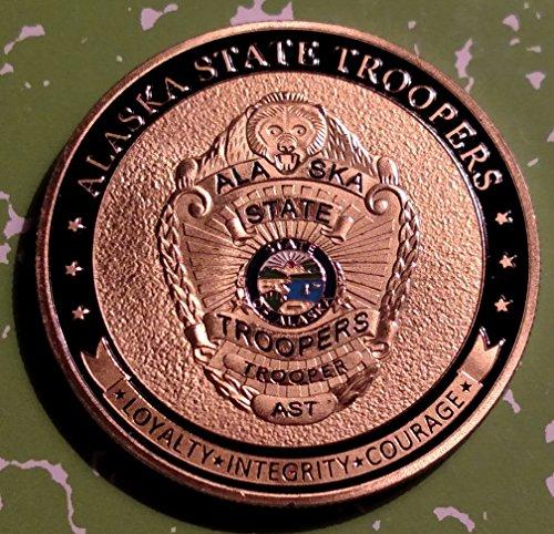 Alaska State Troopers Police Challenge Art (Alaska Coin)