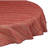 Trendex Home Designs Zania Round Tablecloth, 70-Inch, Red