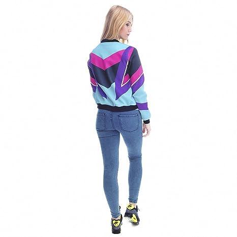 Amazon.com: Women Bomber Jacket Printing 90s Chaquetas Mujer Fashion Slim Outwear Women Jackets Basic Coats jka36057 One Size: Clothing