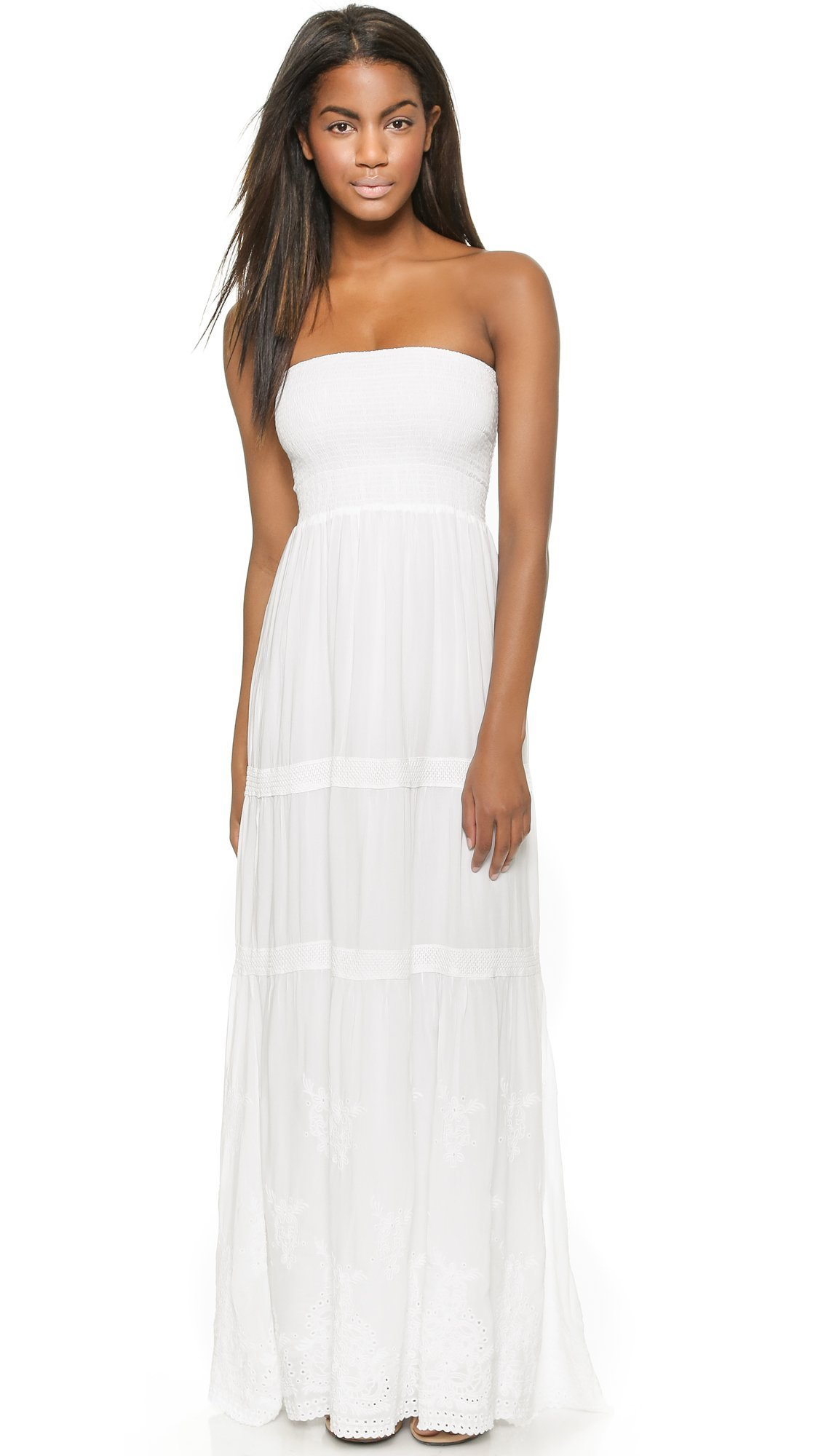 Melissa Odabash Women's Marian Cover Up Maxi Dress, White, Small