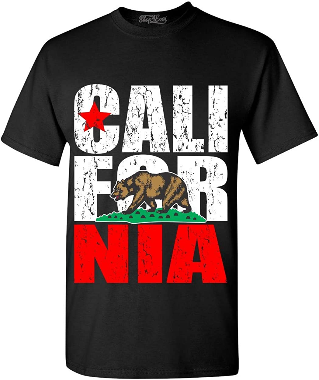 shop4ever California State Flag Bear T-Shirt