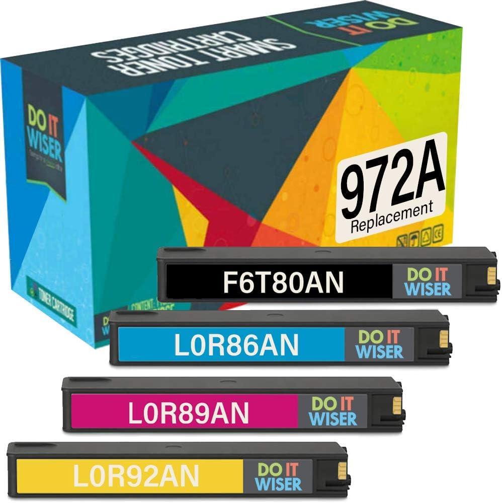 Do it Wiser Compatible Ink Cartridge Replacement for HP 972A HP 972 HP Pagewide Pro 477dw 377dw 477dn 577dw 377dn 577z 452dn 452dw 552dw P55250dw P57750dw (4-Pack)