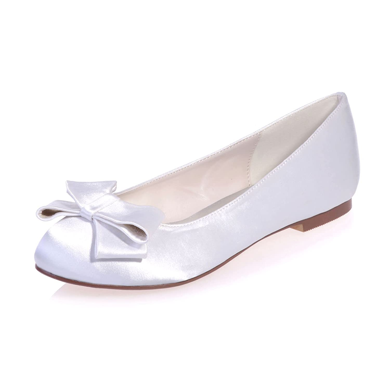 6fb2c8d3f Amazon.com | Fashionmore Women's Bowknot Satin Flat Shoes | Flats