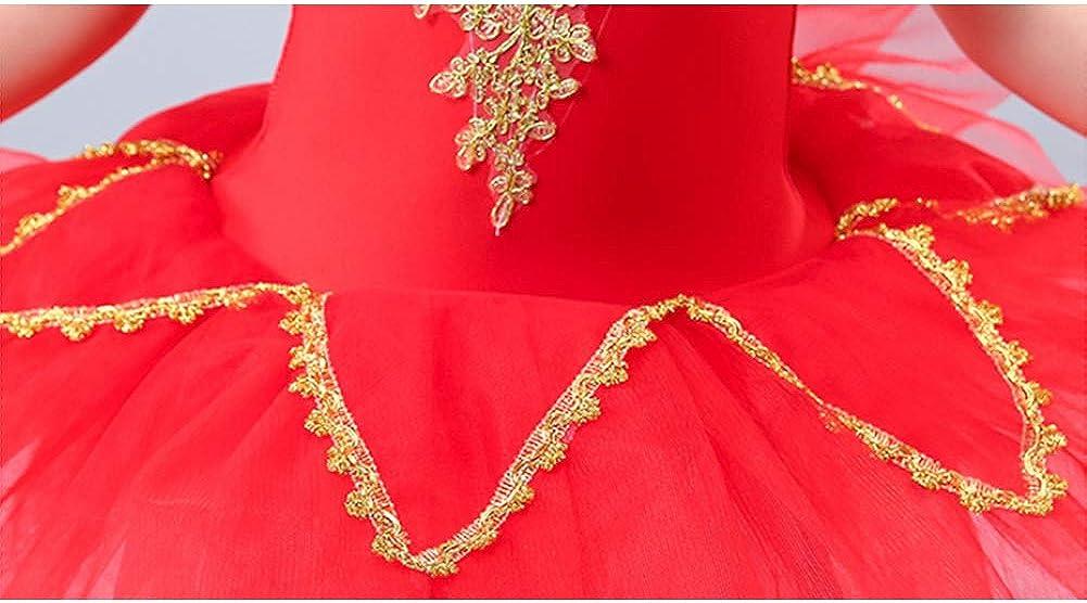 Junsi Girls Swan Lake Sequins Beads Ballet Gymnastic Leotard Tutu Dress