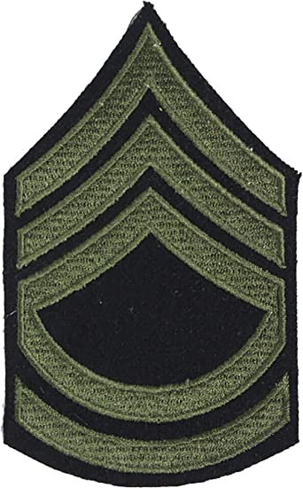 Reproduction World War 2 US Army Olive Rank Patches (Technical Sergeant)