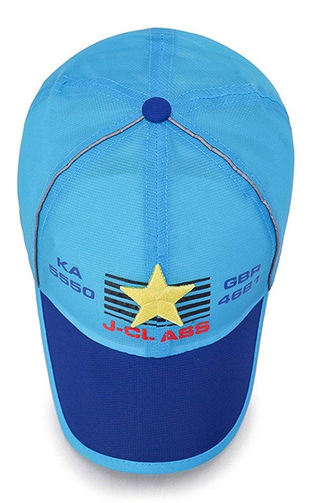 Roffatide Baseball Cap Kids Quick Dry Sun Hat Girls Peaked Cap Boys Adjustable Airy Mesh UV Protection Caps