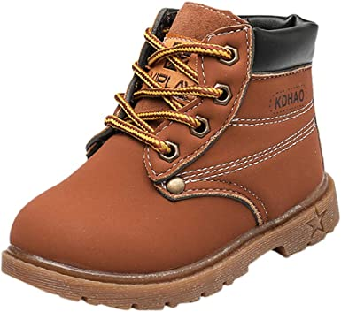Toddler Kids Baby Girls Boys Autumn Winter Warm Martin Boots Shoes Sneakers