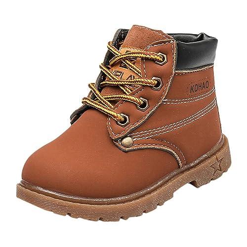 Botas Niño Invierno BBsmile Martin Botas de Chicos Chicas Sneaker Patucos  Zapatillas Calientes de Bebé niños niñas  Amazon.es  Zapatos y complementos ee775be91c2