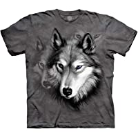 The Mountain Kids Wolf Portrait T-Shirt - Grey - Youth