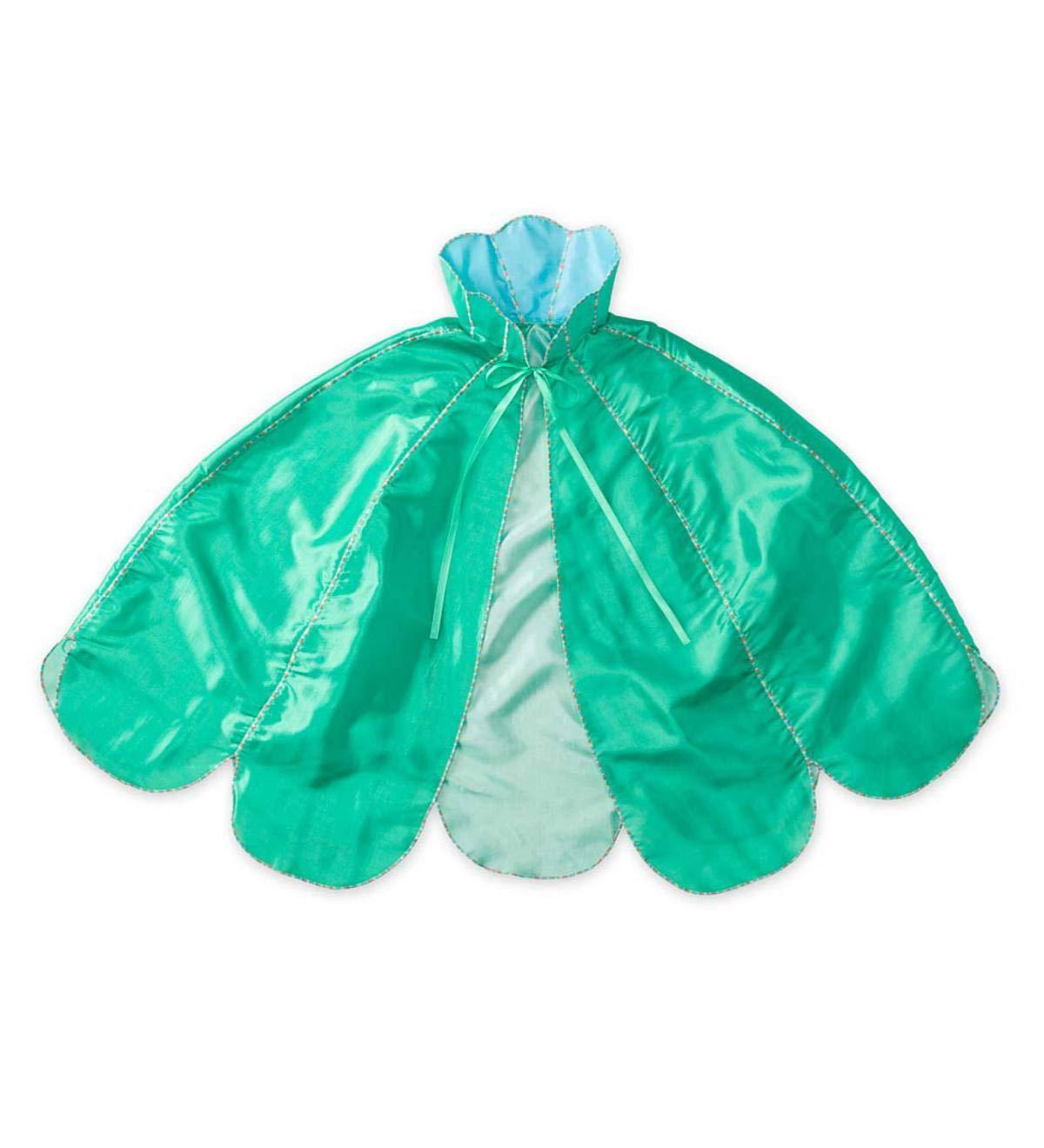 One Size Magic Cabin Pretend Play Costume Accessory Machine Washable Mermaid Dress Up Cloak for Kids