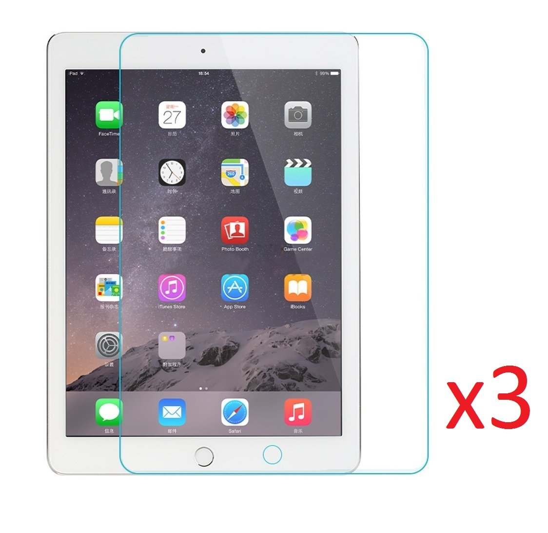 eTECH Collection 3 Pieces of Premium Tempered Glass Screen Protector for  Apple iPad 2/3/4 Generations (0 3mm) 9H Hardness with Oleophobic Coating -