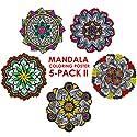 曼荼羅カラーリングポスター5- Pack II–22x 22インチMandala Coloring Posters (新しいデザイン)