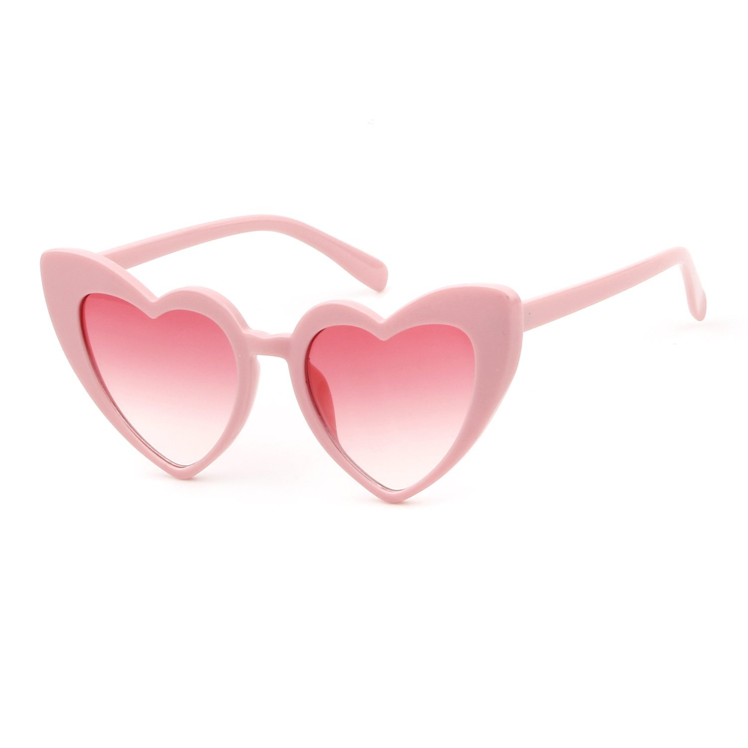 Clout Goggle Heart Sunglasses Vintage Cat Eye Mod Style Retro Kurt Cobain Glasses yiwu major glasses co. ltd
