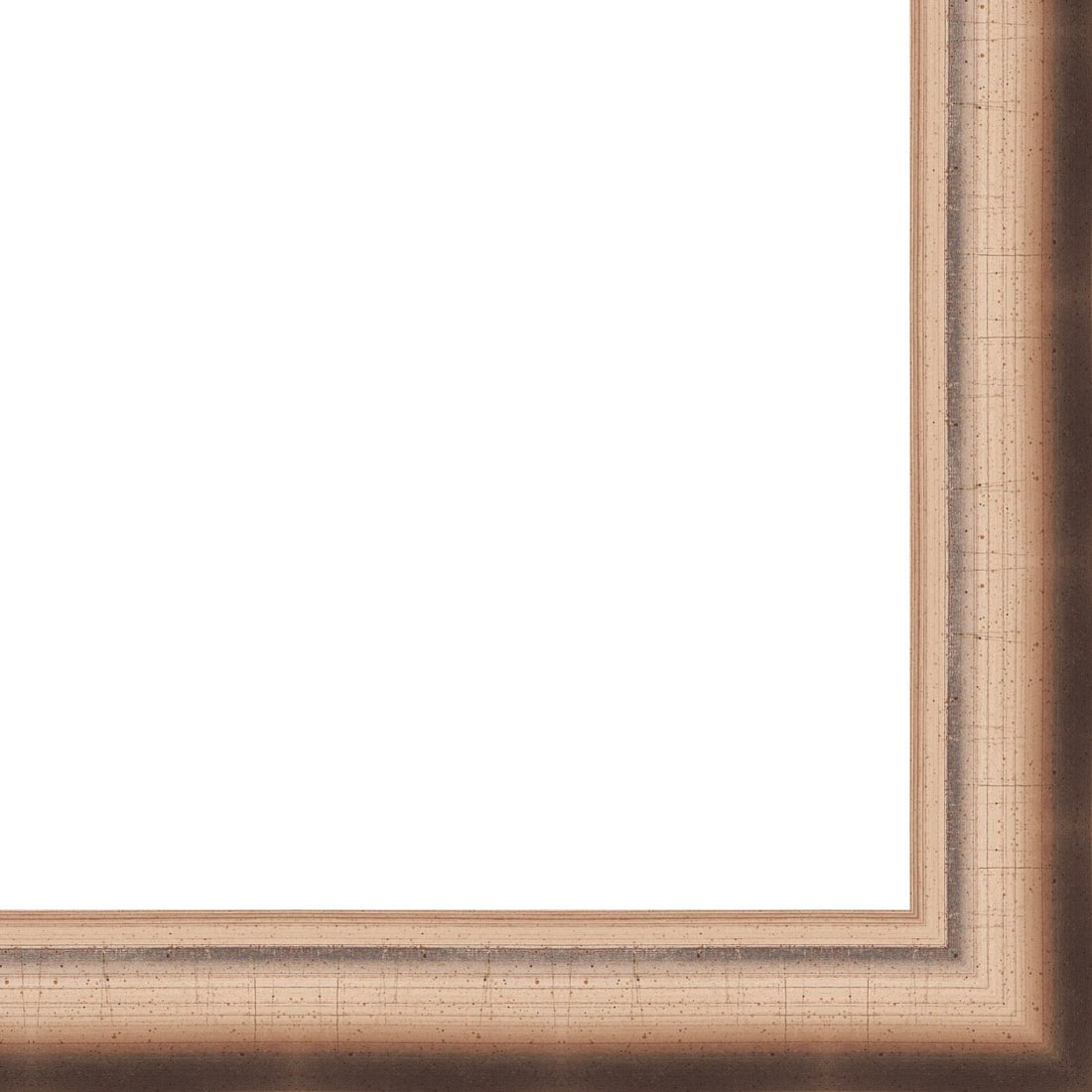 Picture Frame Moulding (Wood) 18ft bundle - Contemporary Antique Silver Finish - 1.25'' width - 3/4'' rabbet depth