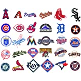 MLB Baseball teams logo 30 wall decals stickers Good size: 6 in