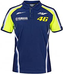 Valentino Rossi VR46 Moto GP M1 Yamaha Racing Team Polo Shirt Official New