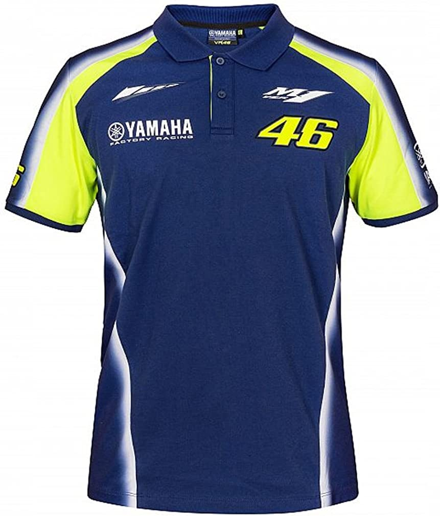 Valentino Rossi VR46 Moto GP M1 Yamaha Racing Team Polo Camisa ...