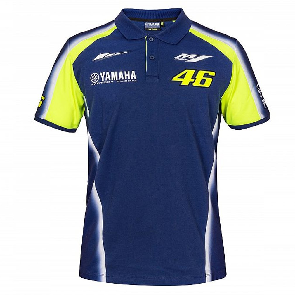 Valentino Rossi VR46 Moto GP M1 Yamaha Racing Team Polo Chemise Officiel 2018