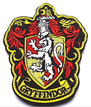 Harry Potter Hogwarts Gryffindor House Banner Badge/Patch. Embroidered,  Velcro Patch