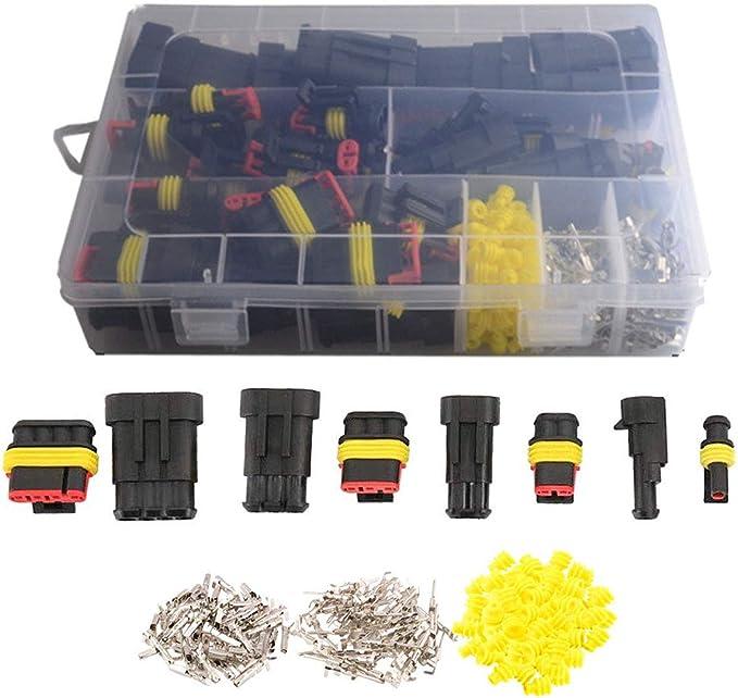 352 Wasserdichte Elektrische Kabelverbinder Stecker 1 2 3 4 Polig Für Motorrad Roller Auto Lkw Boote