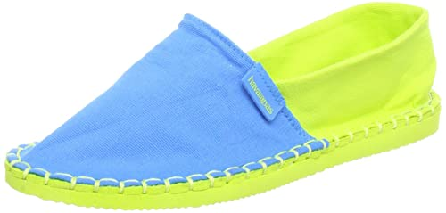 Havaianas Origine Kids, Alpargatas para Niñas, Multicolor (Blue/Lemon Green),