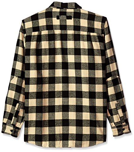 Flannel Woolrich white Shirt Oxbow Da Black Long Bend Bottoni Maglia Con Uomo wZqHgFZaU