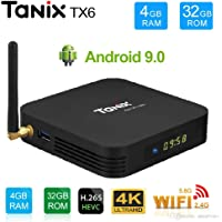 Tanix TX6 Allwinner H6 4GB/32GB Android 9.0 Mini PC 2.4GHz+5GHz 4K 1080P Bluetooth Smart TV Box TX3 Mini X96 Mini MXQ Pro