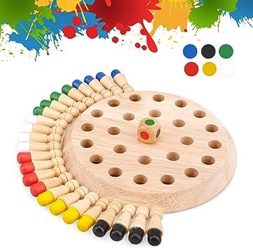 Juegos De Mesa Para Niños De 4 A 5 6 Años Juguetes Educativos Para Niños De 5 A 6 7 Años Ajedrez Para Niños Juego De Memoria De Madera Para Niños Regalo