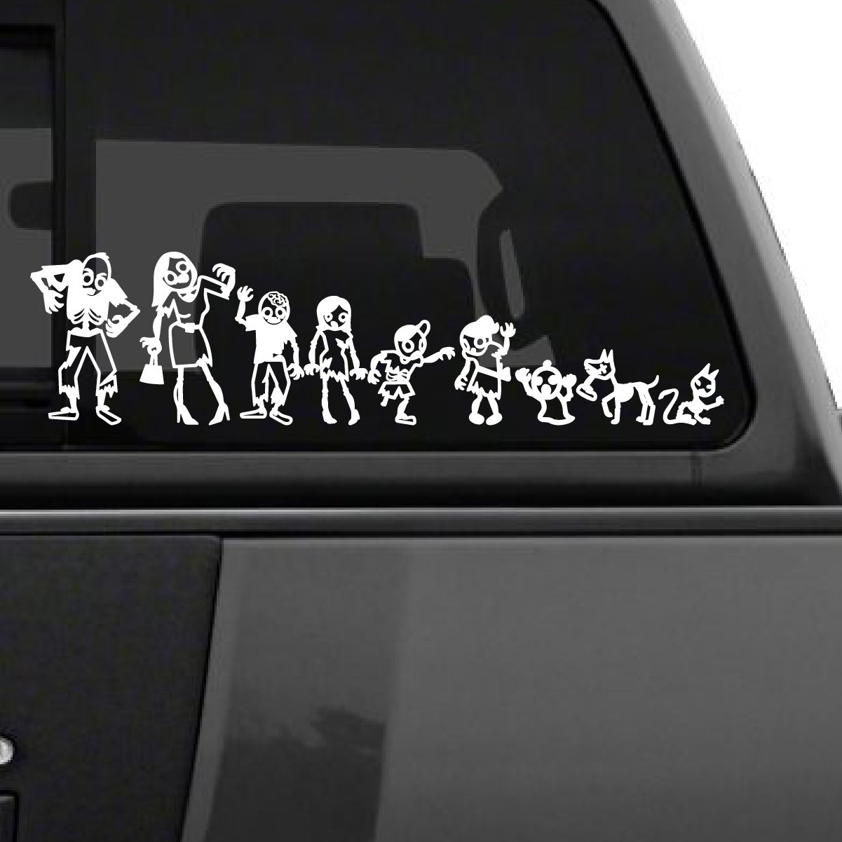 Amazon com zombie stick figure family car decal 6 tall cars stickers decal window sticker cars trucks windows rv boat walls laptops automotive