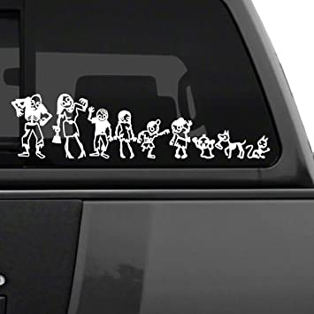 Window Stickers For Cars >> Amazon Com Zombie Stick Figure Family Car Decal 6 Tall