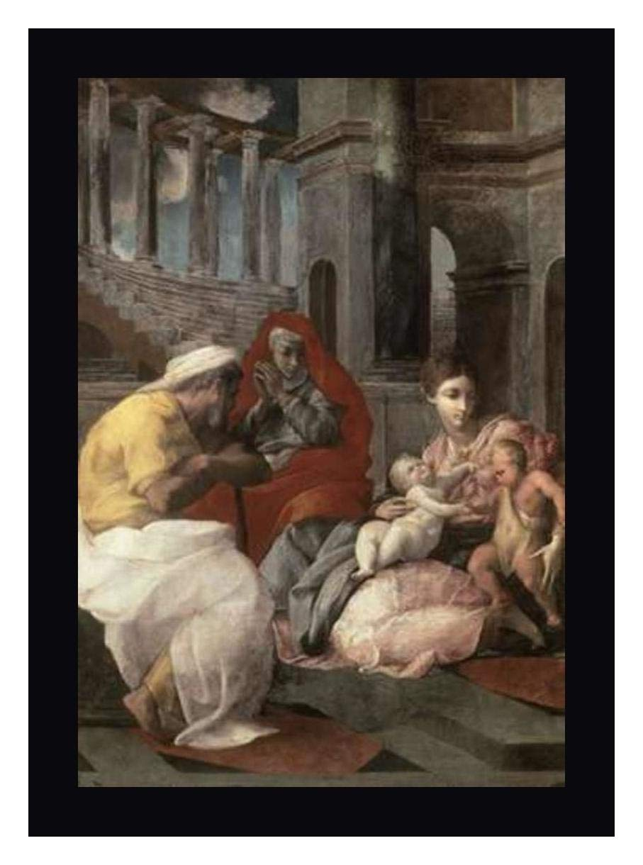 Holy Family with St. Elizabeth and John The Baptist by Francesco Primaticcio...