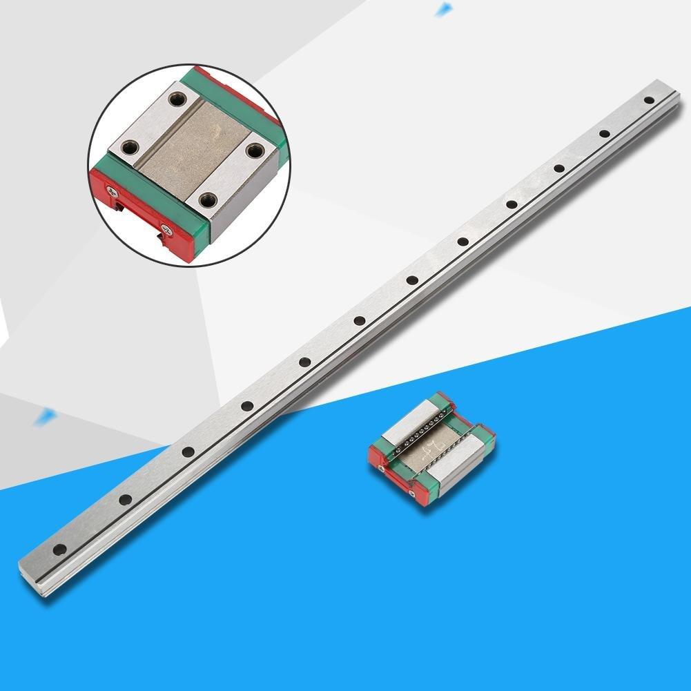 1Pc Mod/èle LML12B Miniature Lin/éaire Chemin de Rail de Guidage Coulissant 12mm Largeur Vari/ét/é Longueur et Bloc Chariot 300mm