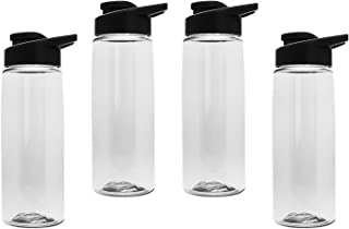 product image for Gary Plastic Packaging 26 oz BPA Free Tritan Sports Bottle (4 Pack) with Drink-Thru Lid and Bonus Crest Lids