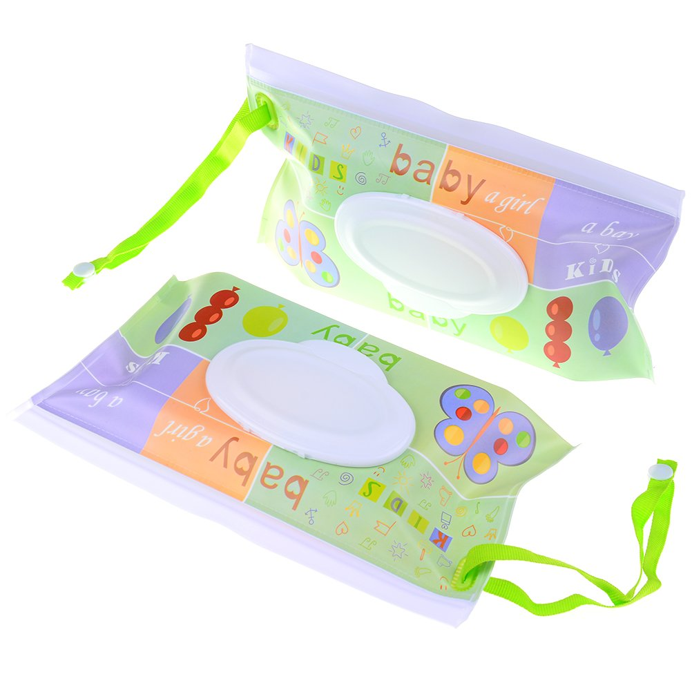 Pizies 2 Pack Eco Friendly Wet Wipe Box for Baby or Personal Wipes Glassleaves pizies-8072702