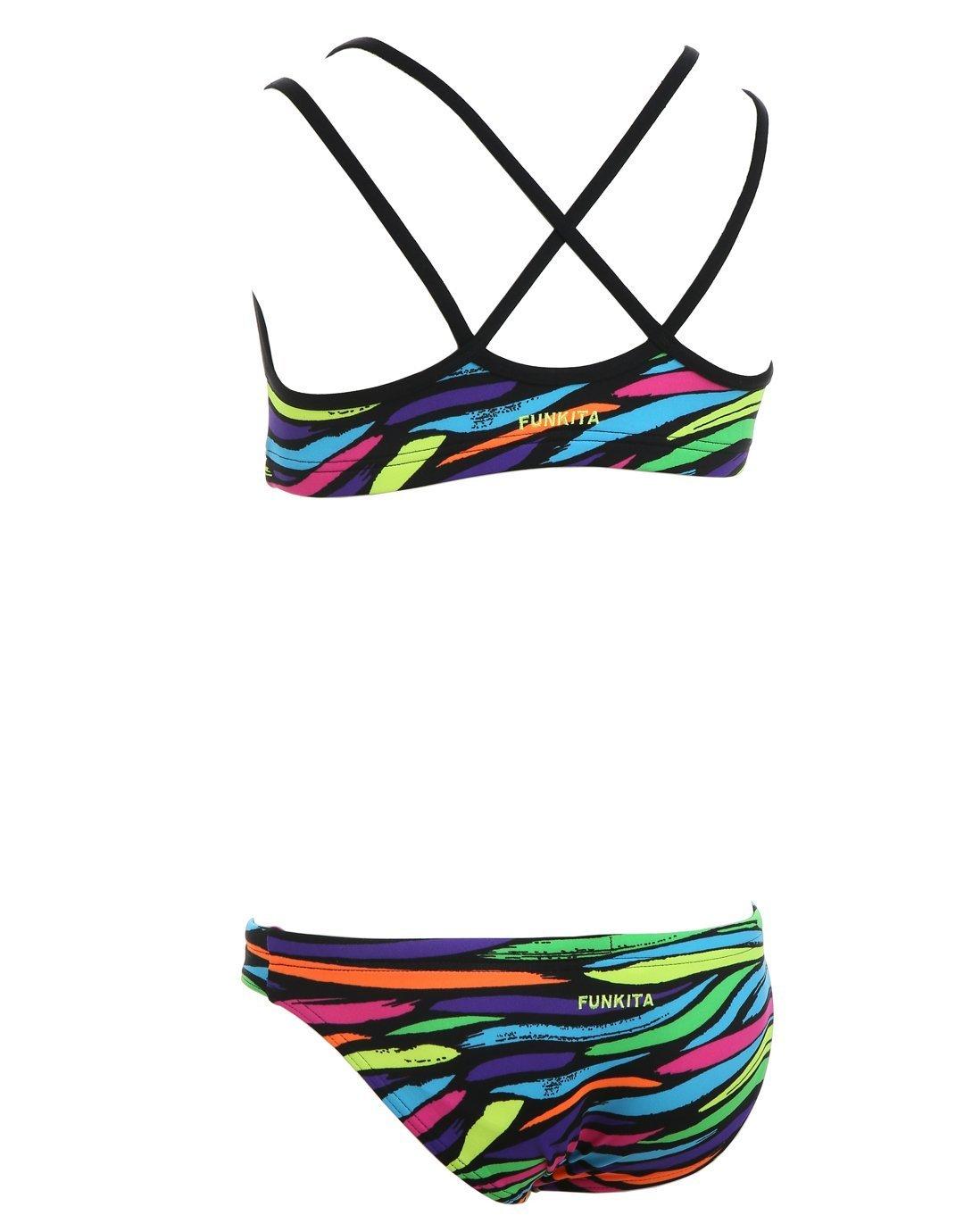 594371d27d94 Funkita Criss Cross Two Piece Cosmic Comet Mädchen Bikini, Bitte Größe  wählen 176  Amazon.de  Sport   Freizeit