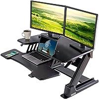 EUREKA ERGONOMIC Height Adjustable Desk 36'' Sit Stand Desk Standing Desk Converter Riser with Keyboard Tray Black 2nd…