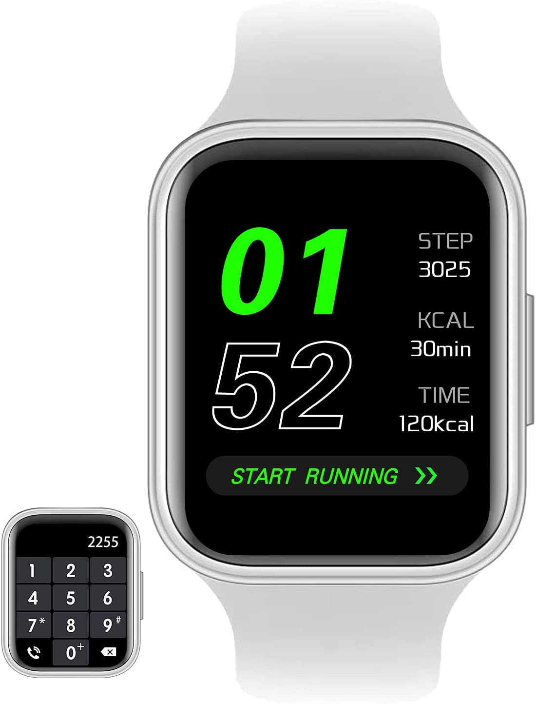 GARINEMAX Smart Watch with Call (Receive/Make Calls) Fitness Tracker with Heart Rate Blood Pressure Monitor for Men Women , Smartwatch with Bluetooth Answer Calls for iOS iPhone Samsung Android Phones
