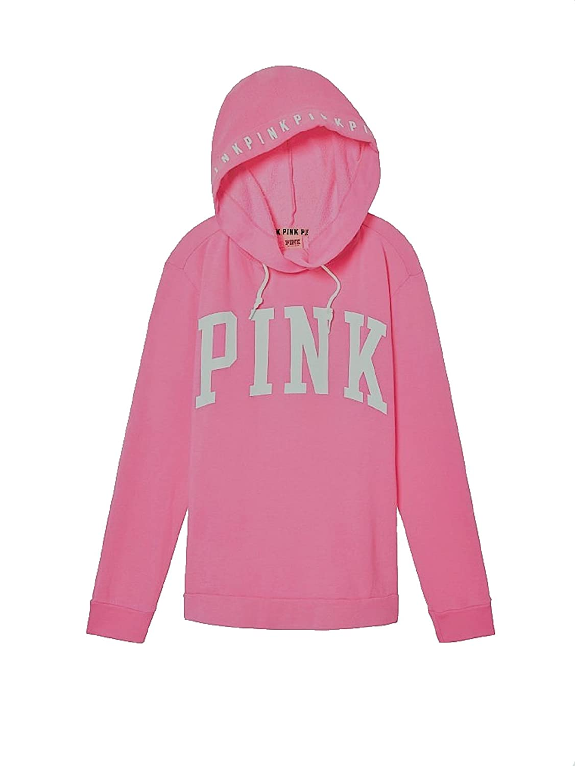 268b466c16b0c Victoria's Secret Pink Hoodie Campus Crossover Tunic Sweatshirt at Amazon  Women's Clothing store: