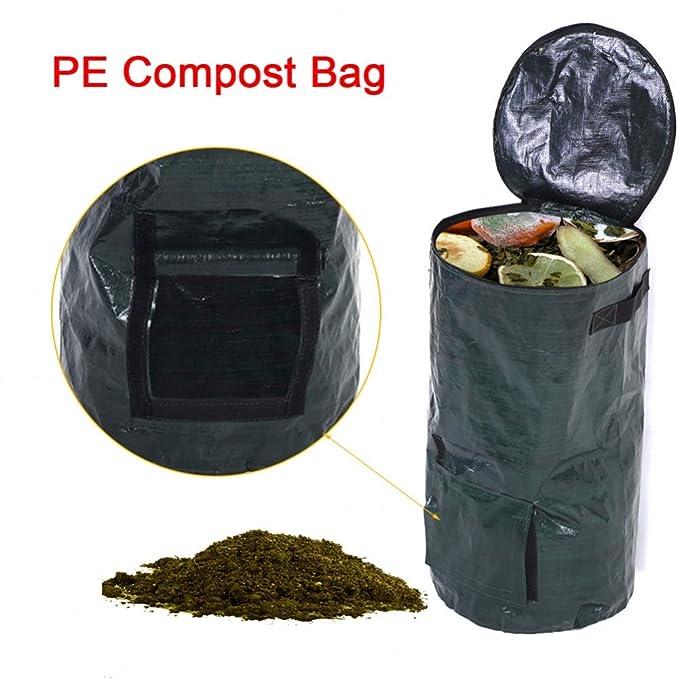 ZYRAY Residuo orgánico Cocina Jardín Bolsa de Compost ...