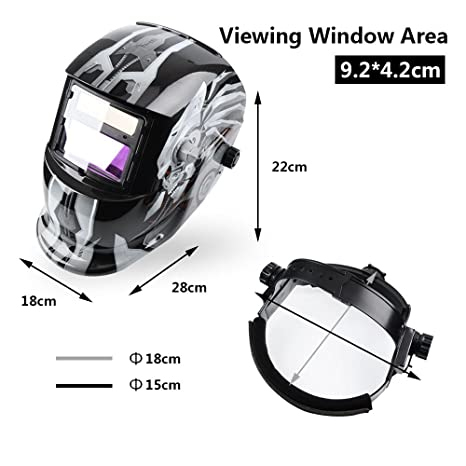 Kukoo ADF Series Solar power Auto Darkening Welding Helmet Mask and wide shade 9-13 with EN and ANSI Z87.certified - - Amazon.com