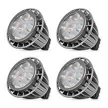 MR16 LED Bulbs, 5W Warm White, 3000K, 400lm, AC/DC 12V, Non-dimmable Spotlight,40W Halogen Bulbs Equivalent, 120 Degree Beam Angle, Standard Size LED Light Bulbs (Pack of 4)